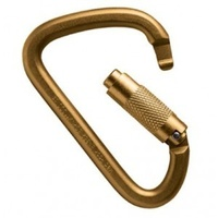 MAD ROCK XL STEEL TWIST LOCK GOLD CARABINER