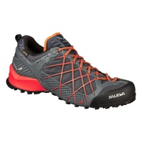 SALEWA WILDFIRE GTX MEN'S APPROACH SHOES - OMBRE BLUE/FLUO ORANGE