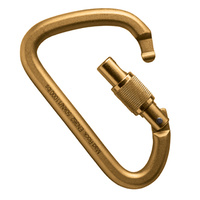 MAD ROCK XL STEEL SCREW GATE GOLD CARABINER